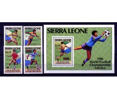 S.LEONE ** 1986 FUTBOL & MEKSİKA 86 S+ BL.(160109)