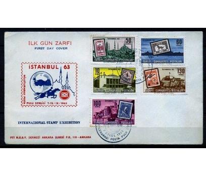 CUMH.FDC 1963 İSTANBUL 63 PUL S. SÜPER (K013)