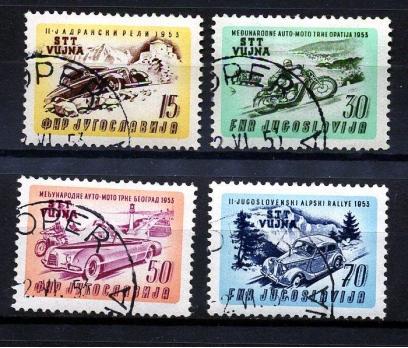 YUGOSLAVYA 1953 DAMG. ARABA VE MOTOR Y. S.(170111)