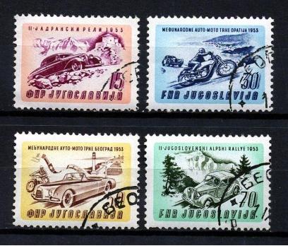 YUGOSLAVYA 1953 DAMG. ARABA VE MOTOR Y. TS(170111)