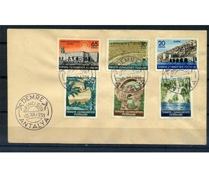 CUMH.FDC 1955 ANTALYA TURİSTİK SÜPER (K005)