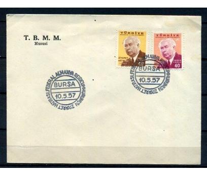 CUMH.FDC 1957 ALMAN C.BAŞKANININ BURSA Z.(K005)