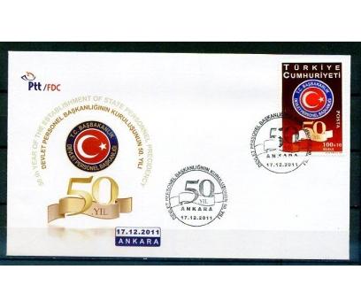 CUMH.FDC 2011 D.P.BAŞK.50.YILI  SÜPER (K014)