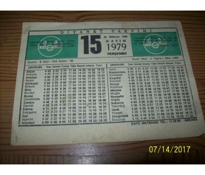 15 Kasım 1979 Perşembe - Takvim Yaprağı