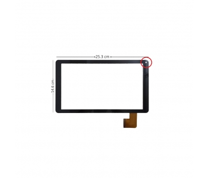 DH-1012A2-PG-FPC062 Dokunmatik Tablet Camı Siyah Tablet Dış Camı