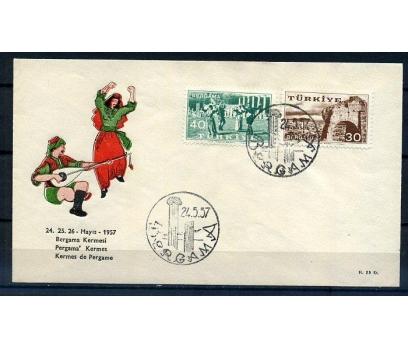 CUMH.FDC 1957 BERGAMA KERMESİ SÜPER (K005)