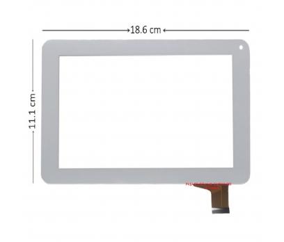 TJC0103A2 Dokunmatik Tablet Camı Beyaz Tablet Dış Camı
