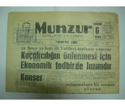 D&K-MUNZUR GAZETESİ 7 NİSAN 1972 CUMA.