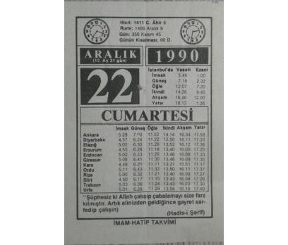 22 ARALIK 1990 CUMARTESİ