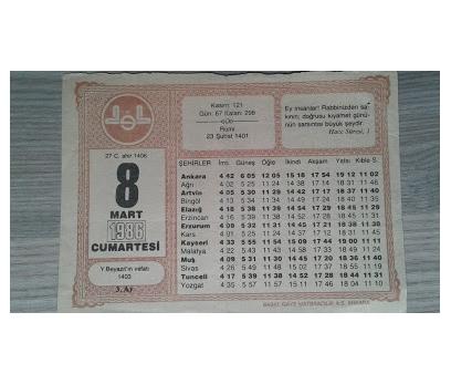 8 MART 1986 CUMARTESİ