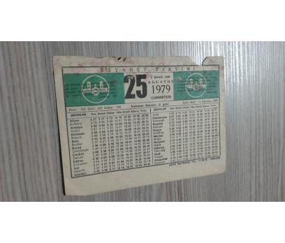 25 AĞUSTOS 1979 CUMARTESİ TAKVİM YAPRAĞI