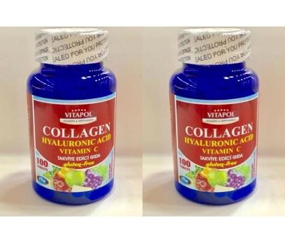 Vitapol Collagen Hyaluronic Acid Vitamin C 100 Tab