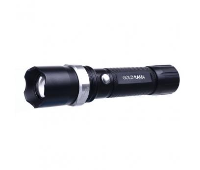 Gold Kama Flaslight Zoom Şarjlı Led El Feneri Swat 3