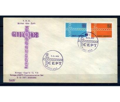 CUMH.FDC 1971 EUROPA CEPT FİLATELİ SÜPER (18-21)