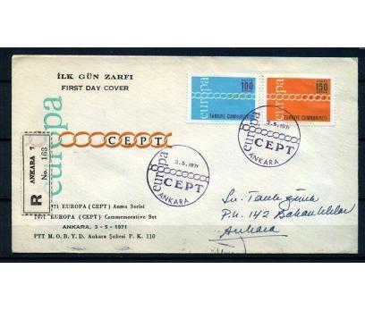 CUMH.FDC  1971 EUROPA CEPT TAAHHÜTLÜ (18-21)