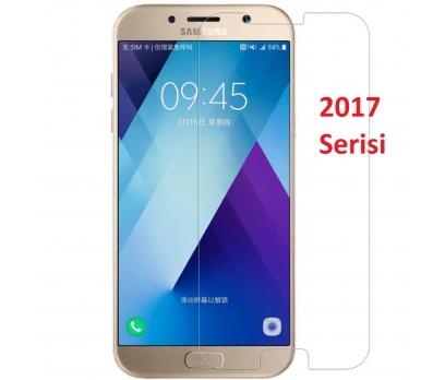 Samsung Galaxy A5 (2017) SM-A520F Temperli Kırılmaz Cam Şeffaf Gerçek Temperli Cam