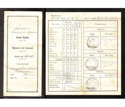 D&K-ERMENİ İLKOKULU ÖĞRENCİ NOT KARNESİ 1957