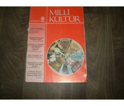 MİLLİ KÜLTÜR  S. 74 - 1990 BATI TESİRİNDE TÜRK