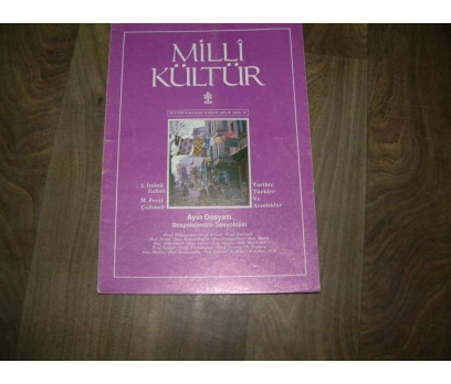 MİLLİ KÜLTÜR  S. 83- 1991 2. İNÖNÜ ZAFERİ FEVZİ