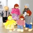 6 Adet Ahşap Aile Bebek Kukla Bebek