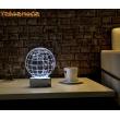 3 Boyutlu Led Lamba Masa Gece Lambası Dünya Harita
