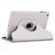 Apple iPad Mini 360 Derece Dönebilen Deri Kılıf - Beyaz