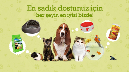 Evcil hayvan ürünleri bizde.com'da