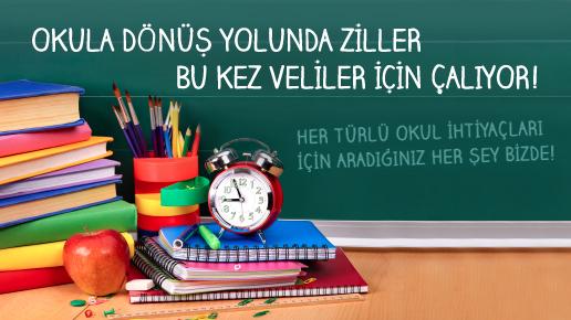 Her türlü okul ihtiyaçlarınız bizde.com 'da