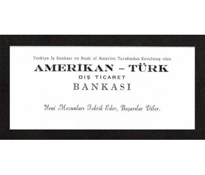 D&K--DIŞ TİCARET BANKASI-AMERİKAN-TÜRK REKLAMI.