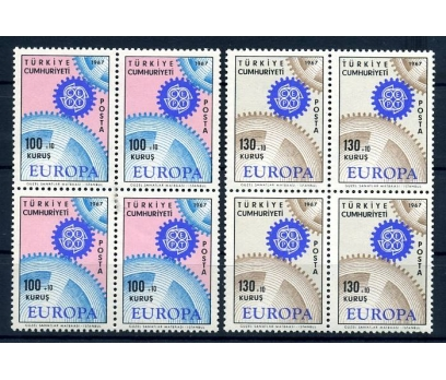 CUMHURİYET ** DBL 1967  EUROPA CEPT