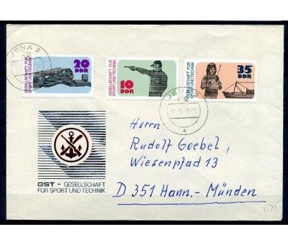 DDR FDC 17.5.1977  SPOR-GEMİ-ATICILIK (YZ-1)