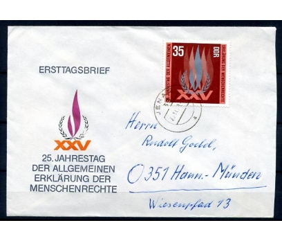 DDR FDC 20.11.1973 UNO 25.YIL  2 TAM SERİ (YZ-1)