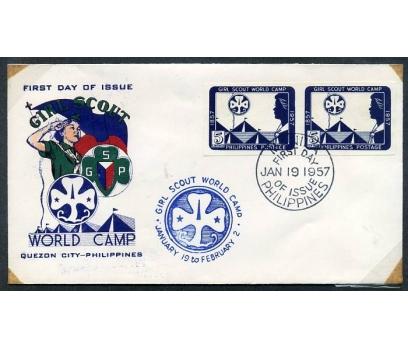 FİLİPİNLER 1957 İZCİLİK FDC  DANTELSİZ PER(280415)