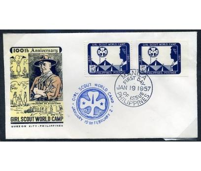 FİLİPİNLER FDC 1957 İZCİLİK 100.YIL (280415)