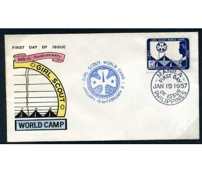 FİLİPİNLER FDC 1957 İZCİLİK 100.YIL D.SİZ(280415)