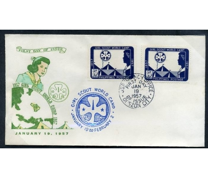 FİLİPİNLER FDC1957 İZCİLİK  D.Lİ+D.SİZ(280415)