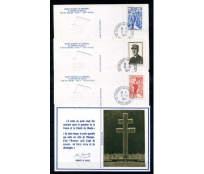 FRANSA 1971 DE GAULLE 4 KM ALTIN YALDIZ(290415)
