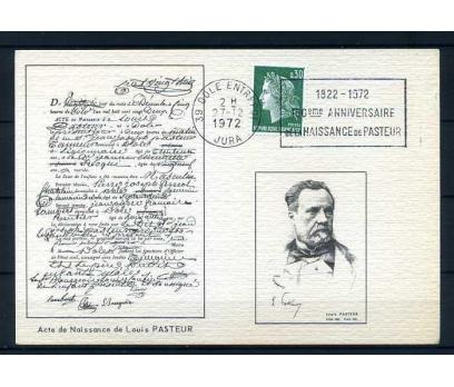 FRANSA 1972 PASTEUR  NEFİS HATIRA KART(280415)