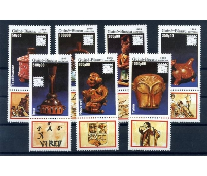 GUINE-BISSAU ** 1989 TOTEMLER  TAM SERİ (A-1)