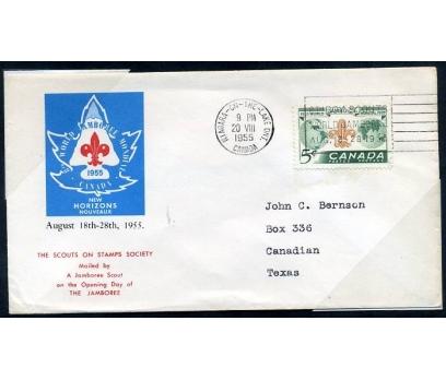KANADA  FDC 1955  İZCİLİK -5  TEK P.SERİ(280415)