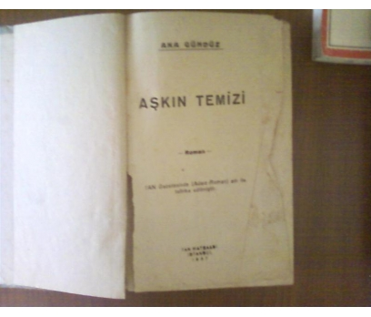 AŞKIN TEMİZİ  AKA GÜNDÜZ 1937 TEMİZ  CİLTLİ