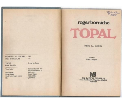 TOPAL -ROMAN ROGER BORNICHE
