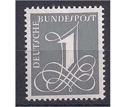 1955 Almanya Freimarke Ziffer Damgasız**