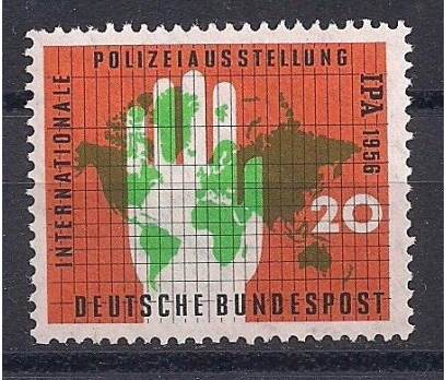 1956 Almanya Polis Fuarı Damgasız**
