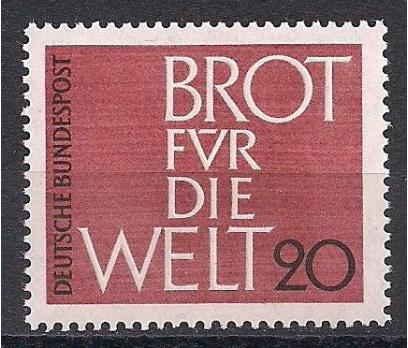 1962 Almanya Dünya için Ekmek Damgasız**