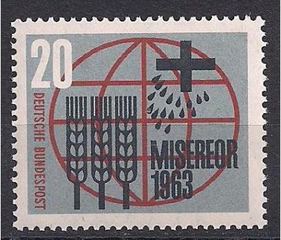 1963 Almanya Misereor Damgasız**