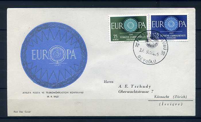 CUMH.FDC  1960  EUROPA CEPT SÜPER(300415) 1