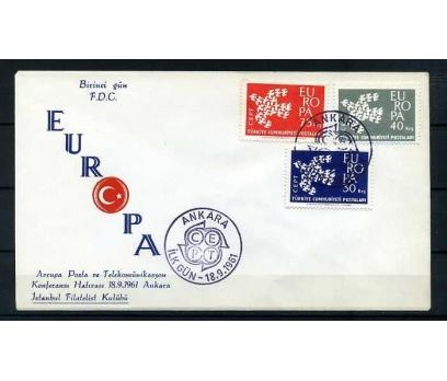CUMH.FDC  1961 EUROPA CEPT İSTANBUL F. KULÜBÜ
