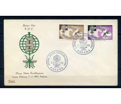 CUMH.FDC  1962 DÜNYA SITMA GÜNÜ KAMER