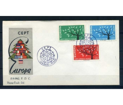 CUMH.FDC  1962 EUROPA CEPT  STAMP TRADE